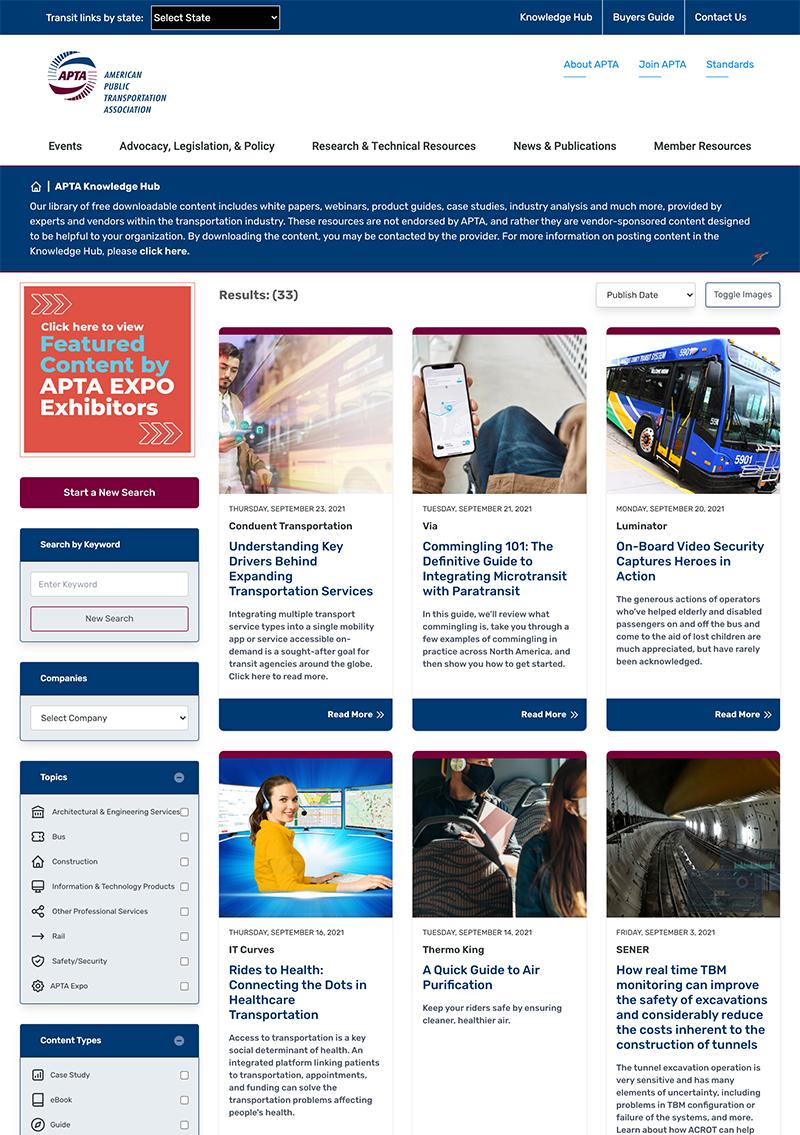 APTA Knowledge Hub